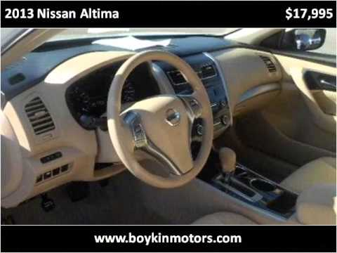 2013 nissan altima used cars smithfield nc youtube for Boykin motors smithfield nc