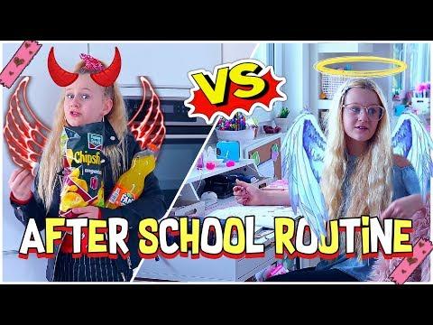 AFTER SCHOOL ROUTINE ENGEL VS TEUFEL | MaVie Noelle