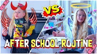AFTER SCHOOL ROUTINE ENGEL VS TEUFEL | MaVie Noelle Family
