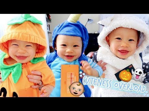 Baby Trying On Halloween Costumes! (Warning Extreme Cuteness)