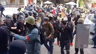Ukraine War - Russian subversives conduct violent clashes supported by police in Odessa Ukraine