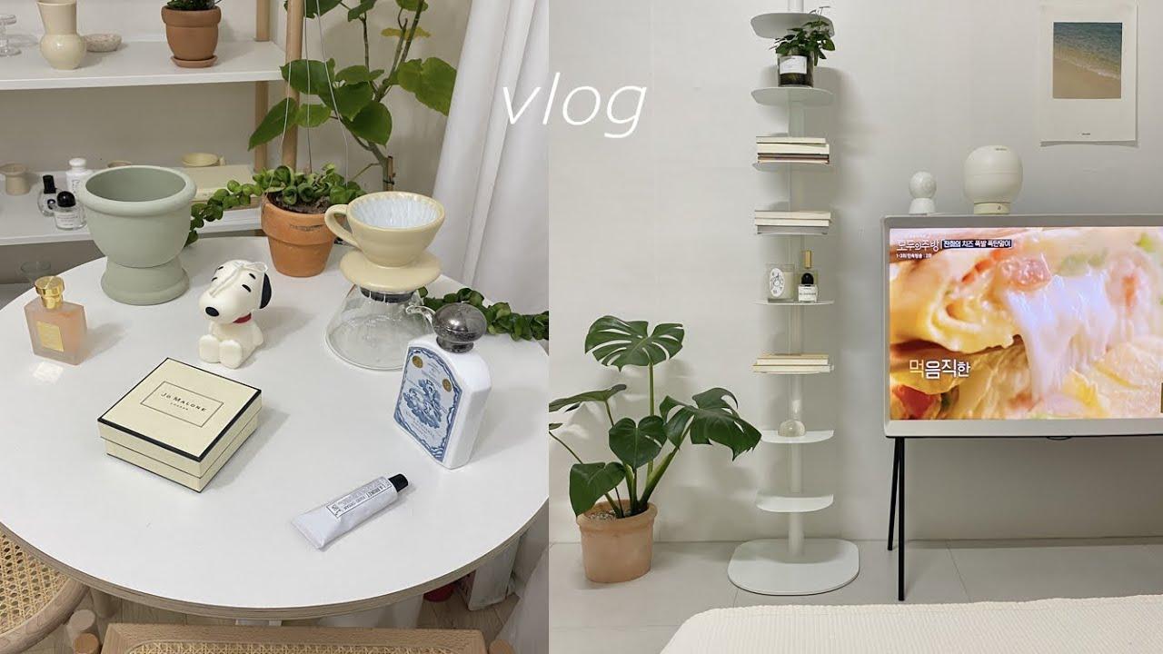 VLOG) 브이로그 | 자취 일상 | 귀여운 소품들 언박싱📦 | 북선반. 불리. 조말론. 스누피. 포멘트.라부르켓. 커피 드리퍼 | 생일선물 🎂 | 반려견과 서촌투어