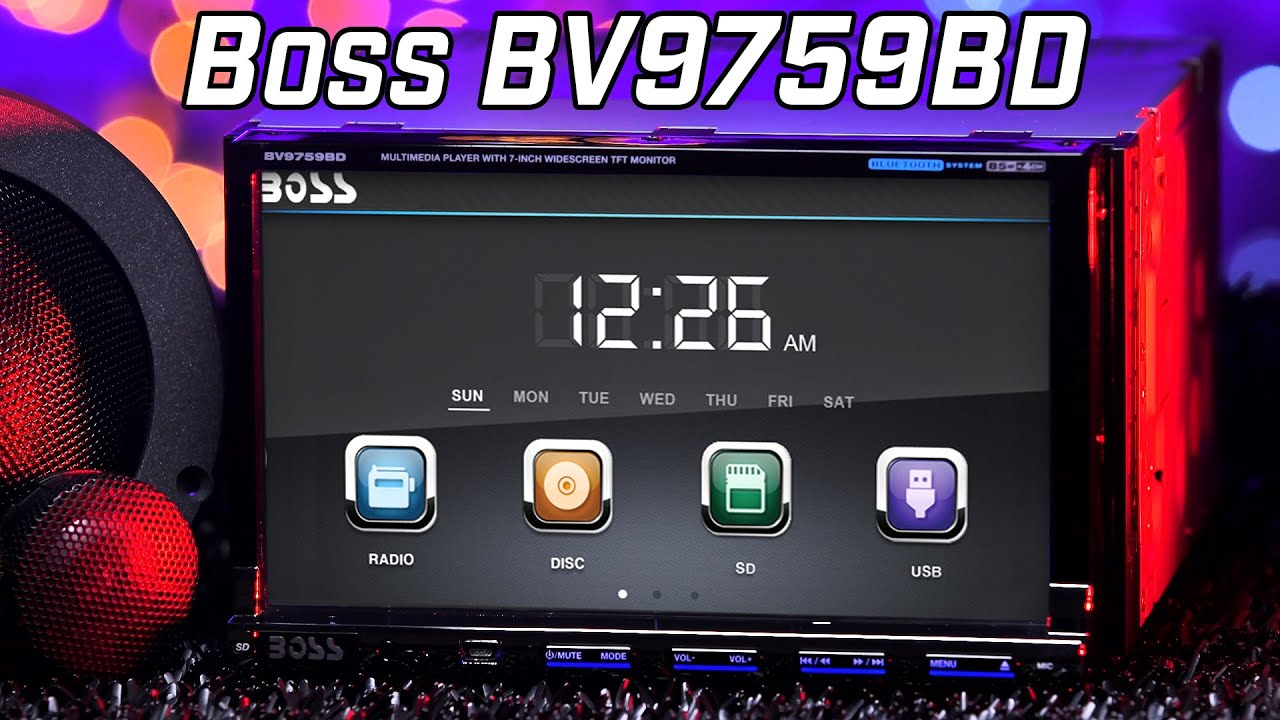 boss bv9759bd dvd bluetooth stereo review 2016 [ 1280 x 720 Pixel ]