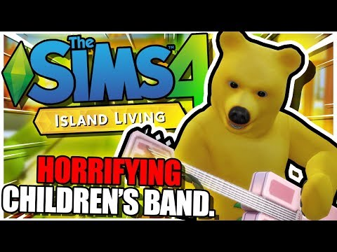 Starting a Horrifying Children's Band in The Sims 4: Island Living. |