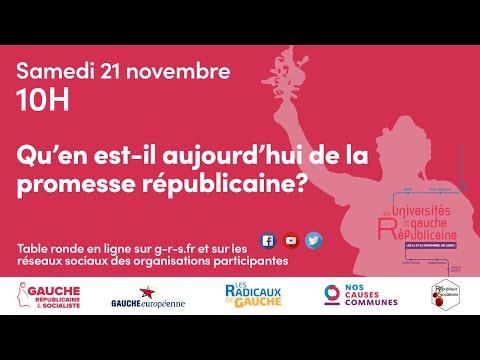 Universités de la Gauche Républicaine - Novembre 2022