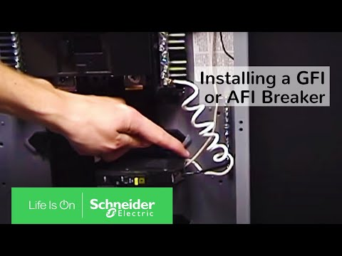Installing a GFI or AFI Breaker | Schneider Electric Support