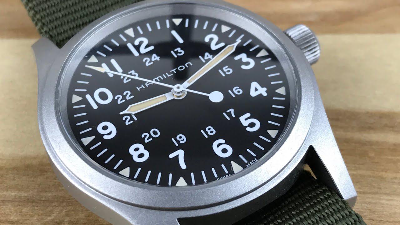 Hamilton 38mm Mechanical Field Watch Youtube