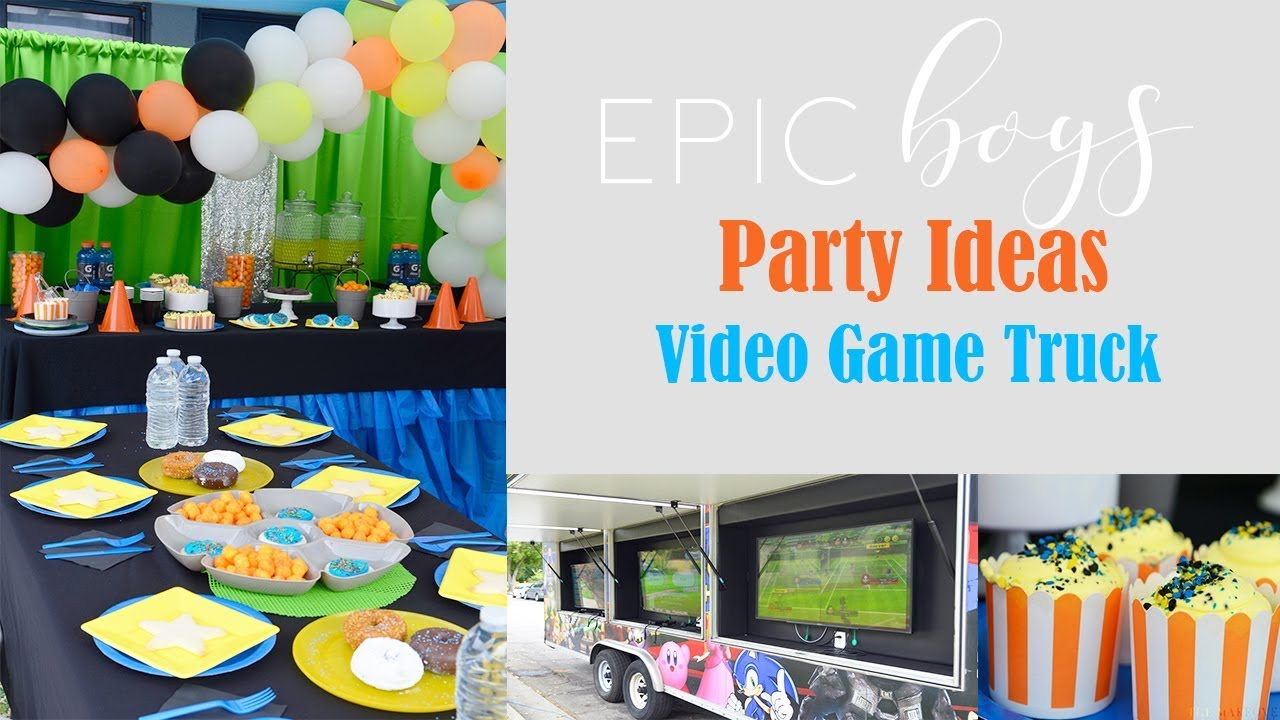 Kids BIRTHDAY PARTY Ideas Boys Video Game Truck