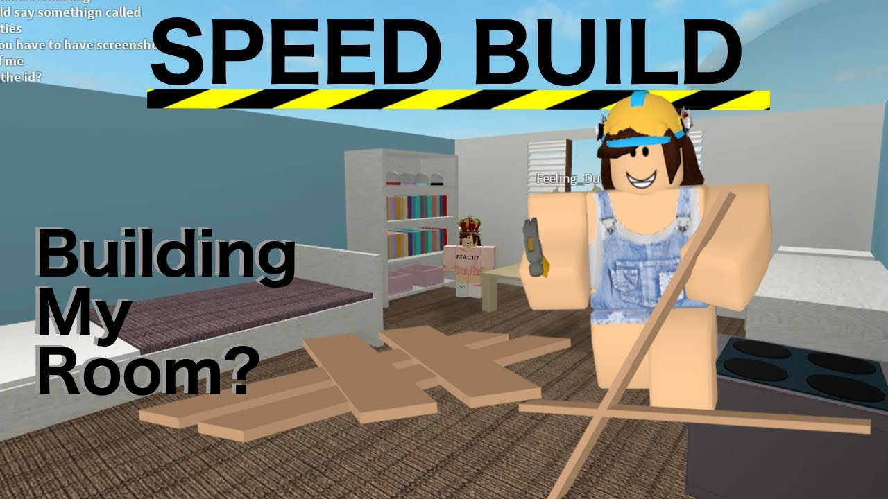 Building My Room Speed Build Roblox