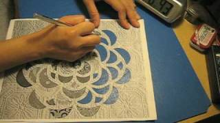 Cutting shapes with an X-Acto knife... The easy way.
