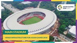 Venue Infrastructure for #AsianGames2018 - Main Stadium