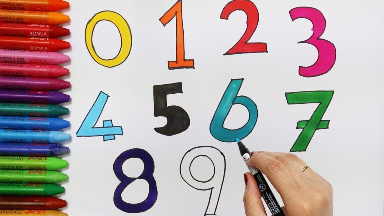 Jak Pisać Numery Rysowanie I Kolorowanie Dla Dzieci Youtube