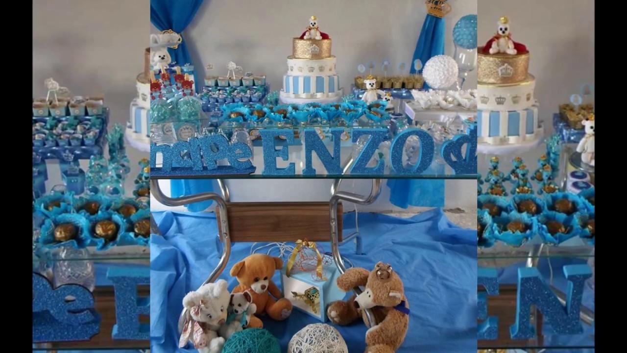 Chá de Beb u00ea Urso Príncipe Enzo 06 09 2016 YouTube -> Decoração Cha De Bebe Ursinho Principe Simples