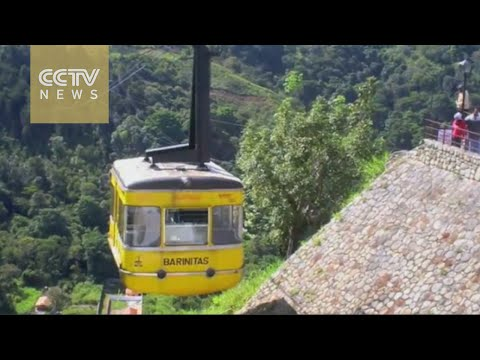 A view from Venezuela's highest cable car