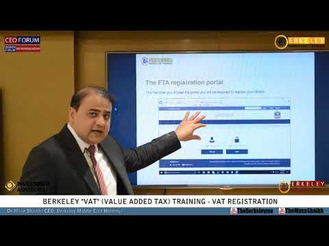 VAT Training | UAE Federal Law on Tax Procedures | VAT Registration