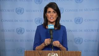 Nikki Haley: US stands by Israel, slams UN's anti-Israel obsession (full Q&A, close captions, HD)
