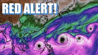 Red Alert! Danger! Hurricane Ophelia! 4 Cyclones in Pacific! NW Rain Train! & More!