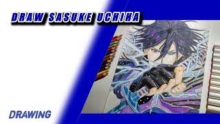 Menggambar Sasuke Uchiha (Naruto) cara menggambar