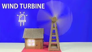 WORKING Model of a Wind Turbine From Cardboard | How to Make a Wind Turbine