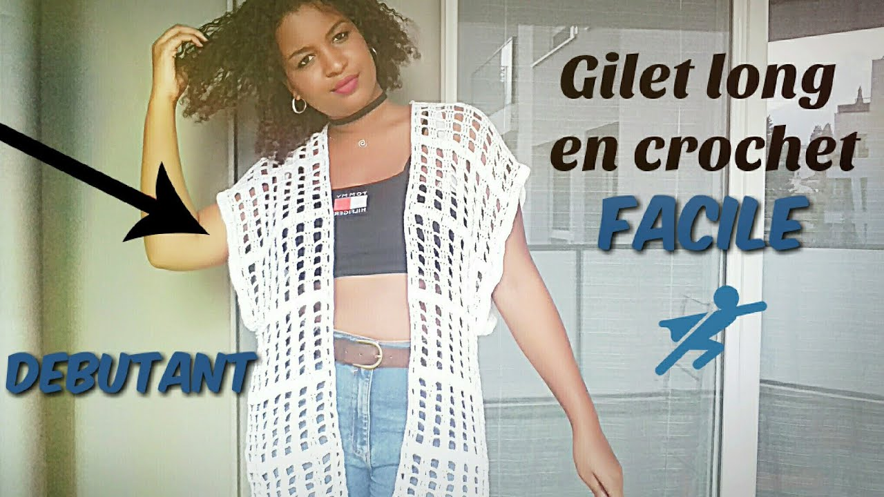 Tuto Gilet Long En Crochet Facile