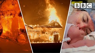 Survival story of mother in labor as her town burned - BBC