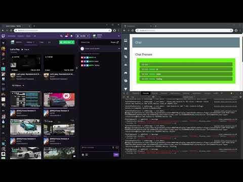 Streamer Dashboard Demo: Twitch Chat