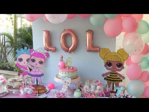 Vlog ideas para fiesta de lol surprise youtube - Decoracion fiestas de cumpleanos ...