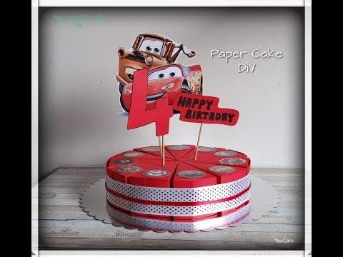 Paper Cake DiY + slice template | Torta od papira | Cars Cartoon