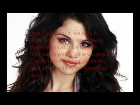 me and my girls selena Gomez lyrics