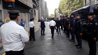 El ministro del Interior visita a la Policía Nacional en Pamplona