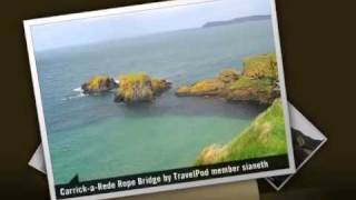 Carrick-A-Rede Rope Bridge - Ballycastle, County Antrim, Northern Ireland, United Kingdom