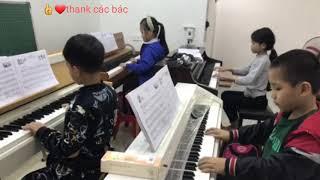❤Trung Tyt học chơi đàn piano♥️funny kids songs♥️video clip♥️nhạc tiếng anh cho bé♥amazing♥discovery