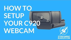 How to Setup Your Logitech C920 Webcam
