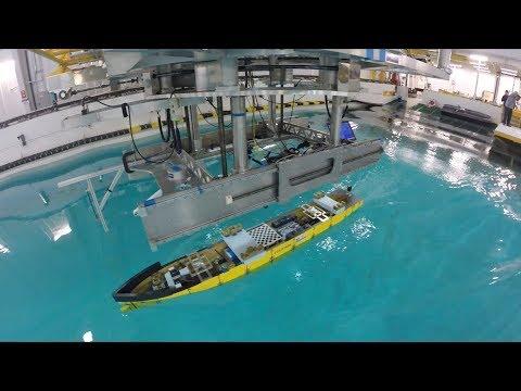 Iowa's wave basin leads the world in ship hydrodynamics