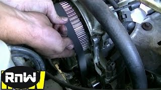 How to Remove and Replace the Timing belt and Water Pump - Mitsubishi 2.4L SOHC Engine PART 3(, 2014-07-18T09:37:16.000Z)