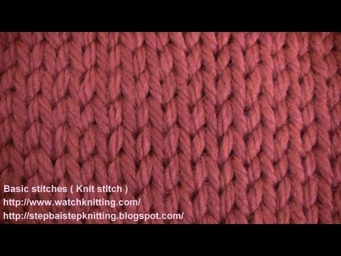 St Nett Ch Learn How To Knit Youtube