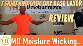 Cycling Base Layer - MD Moisture Wicking T shirt & Base layer Review