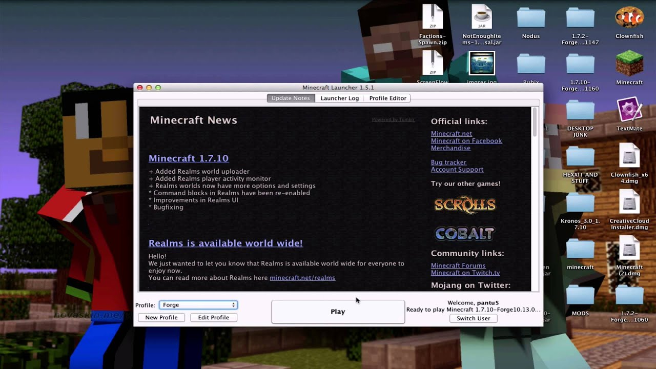 (minecraft)How to install NEI mod for 1 7 10 [Mac/PC/Linux]