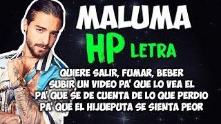 Maluma - HP (Letra/Lyrics)