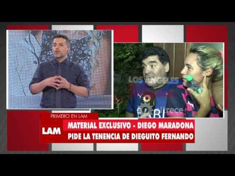 Maradona va a pelear en la Justicia para conseguir la tenencia legal de Dieguito Fernando