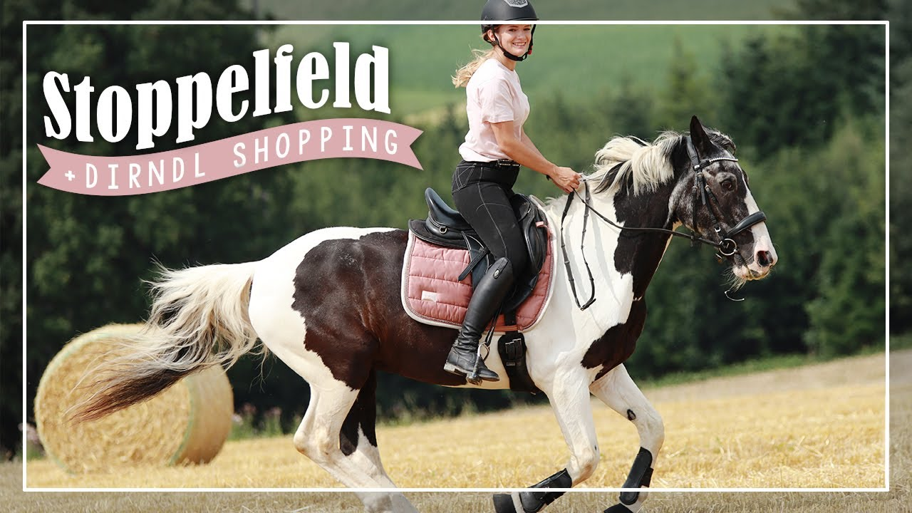 STOPPELFELD 😍🌾 & Dirndl-Shopping 🛍 // A&G HorseDiary