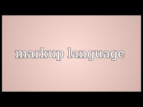 Markup language Meaning