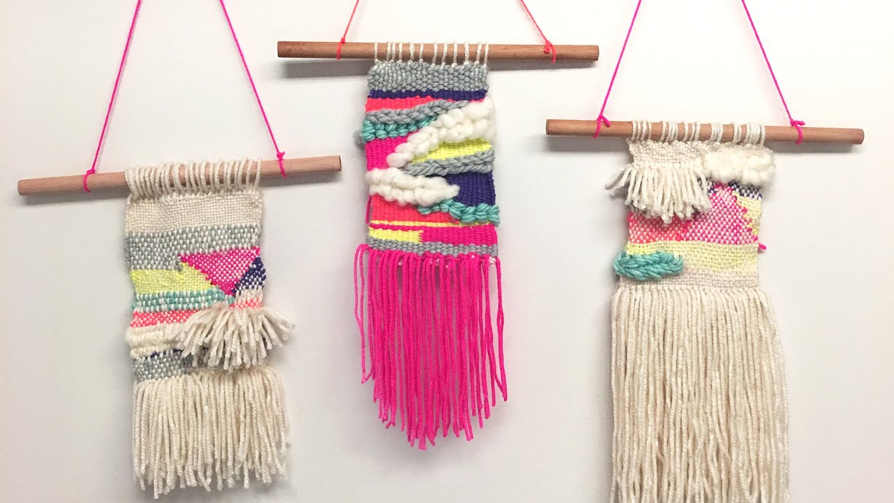 Tissage Diy Whatdaymade Diy Tissage Woven Wall Hagging Youtube