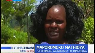 Maporomoko kutoka na mvua katika eneo la Mathioya yasababisha hofu