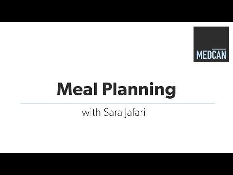 Meal Planning with registered dietitian Sara Jafari