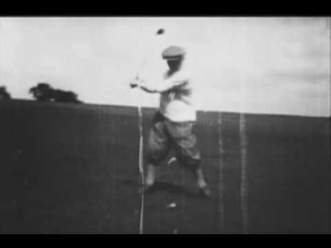 1930 Swing Analysis of Joyce Wethered, @01:36 Bobby Jones, and @03:57 Harry Vardon