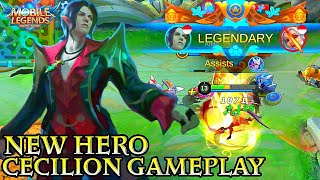 New Hero Cecilion Gameplay  Mobile Legends Bang Bang