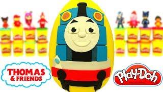 Huevo Sorpresa Gigante De Thomas Y Sus Amigos En Español De Plastilina Play Doh