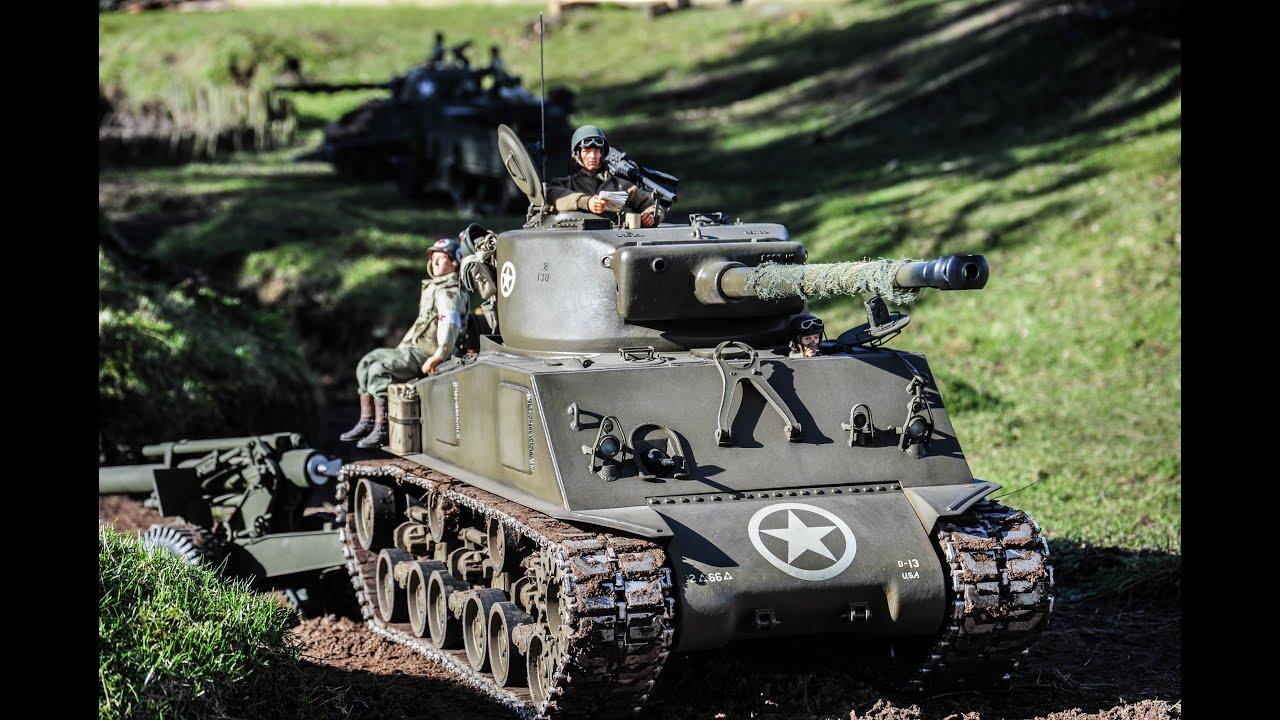 american scratch built 2 x 16 sclae sherman tanks youtube
