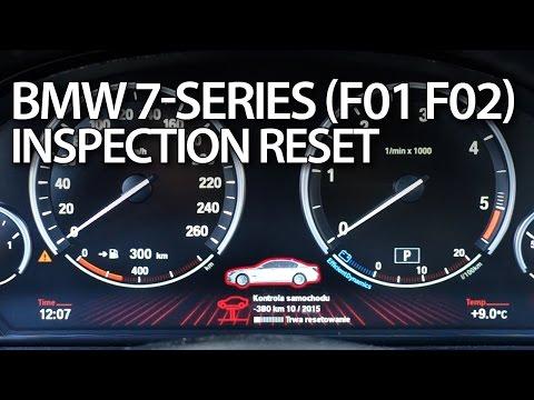 BMW 7-Series service reminder reset (F01 F02)